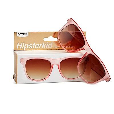 美國Hipsterkid 抗UV偏光奢華嬰幼兒童太陽眼鏡(附固定繩) - 玫瑰