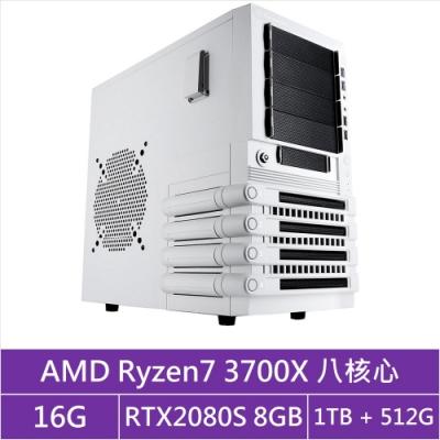 (無卡分期12期)技嘉X570平台[藍焰戰神]R7八核RTX2080S獨顯電玩機
