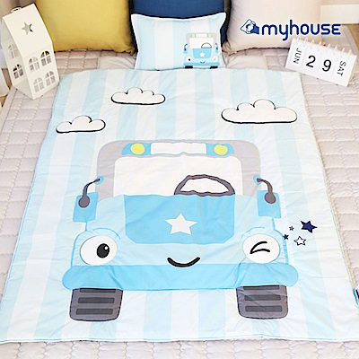 【BabyTiger虎兒寶】Myhouse  韓國防蟎兒童睡袋 - 小汽車