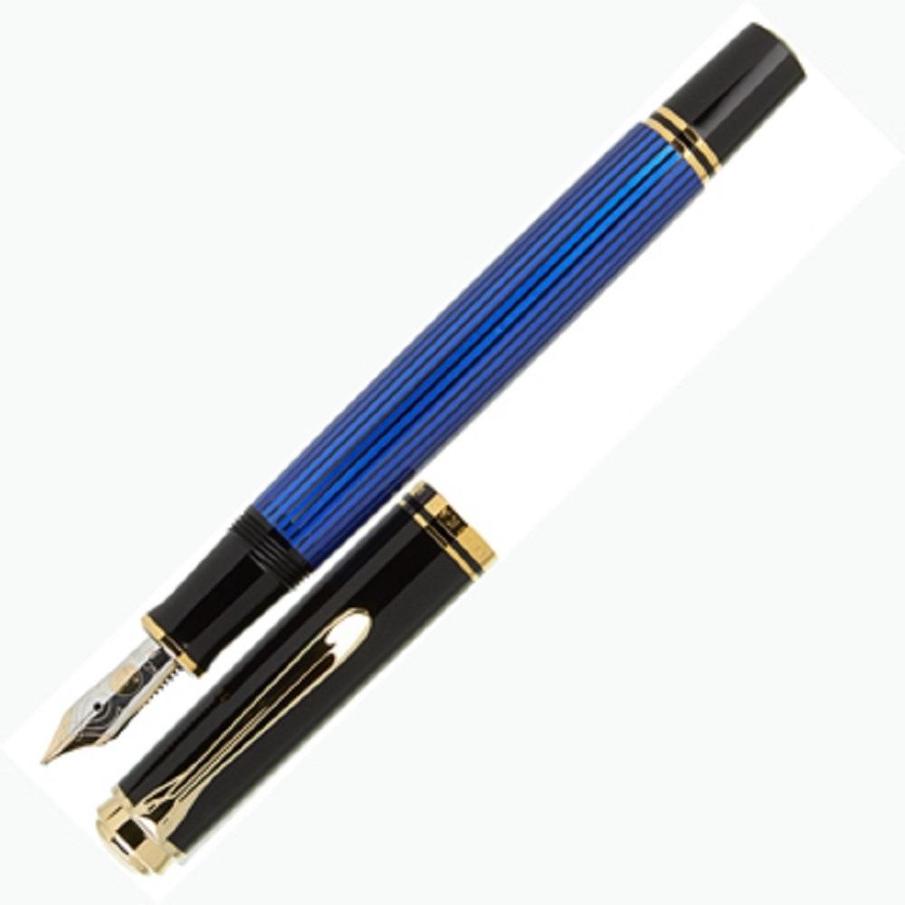 德國PELIKAN百利金 Souverän Fountain pen 藍桿14k鋼筆