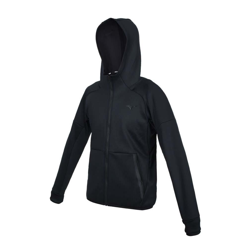 MIZUNO 男針織外套-連帽外套 慢跑 路跑 上衣 美津濃 32MC155409 黑