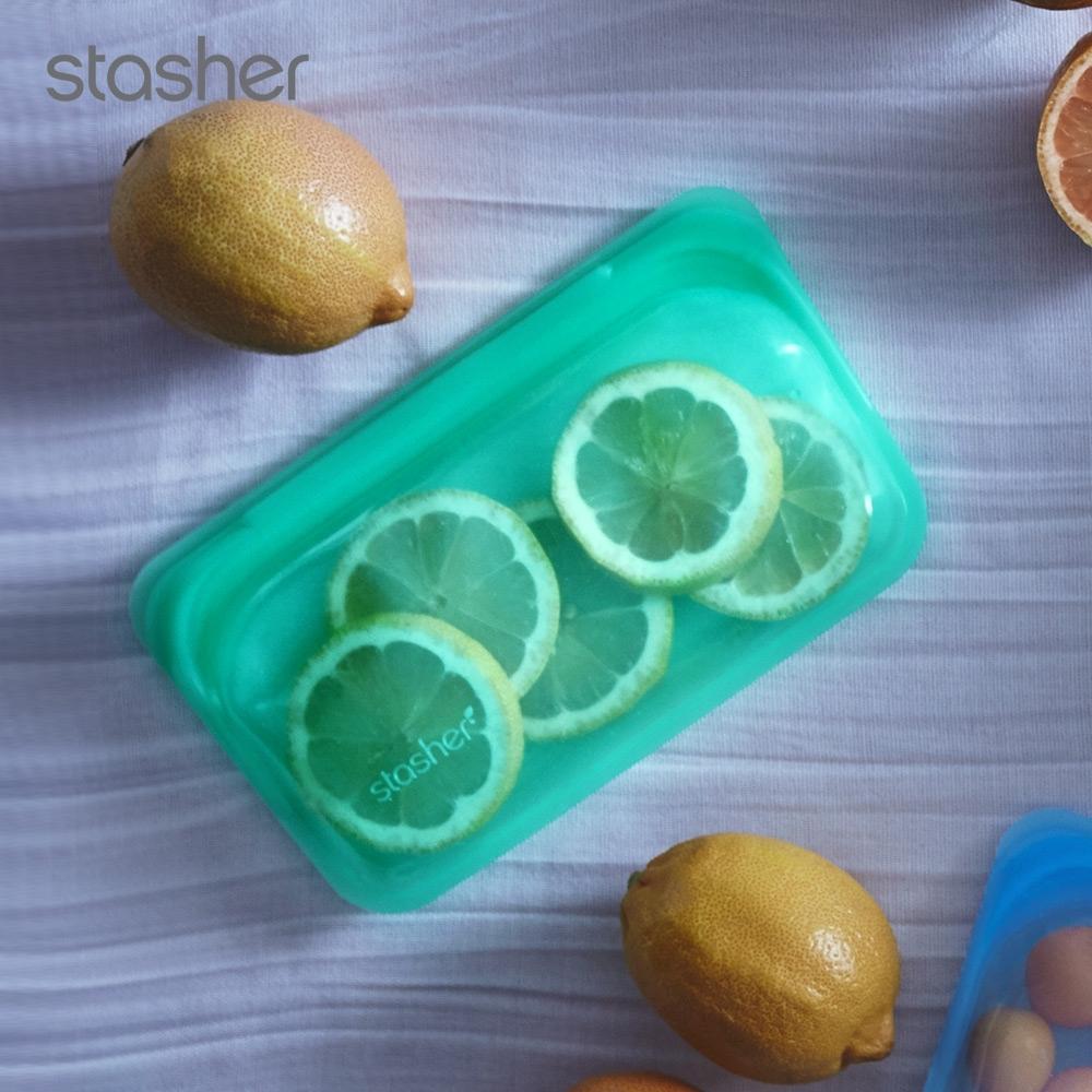 美國Stasher 長形白金矽膠密封袋-碧綠(快)