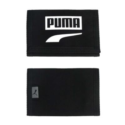 PUMA PLUS皮夾-錢包 零錢包 卡夾 魔鬼氈 反光 短夾 其他 05356814 黑白