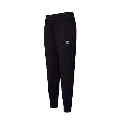 FILA 女款萊卡針織長褲-黑色 5PNT-1605-BK