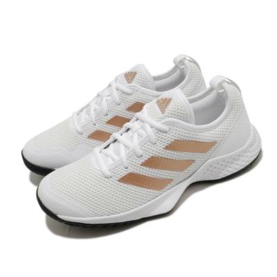 adidas 網球鞋 Court Control 運動休閒 女鞋 愛迪達 耐磨 透氣 緩衝 膠底 白 黑 金 FX3444