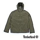 Timberland 男款深橄欖綠保暖連帽寬鬆外套