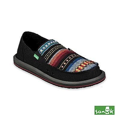 SANUK-VAGABOND MIXER 混合編織圖紋懶人鞋-男款(黑色)