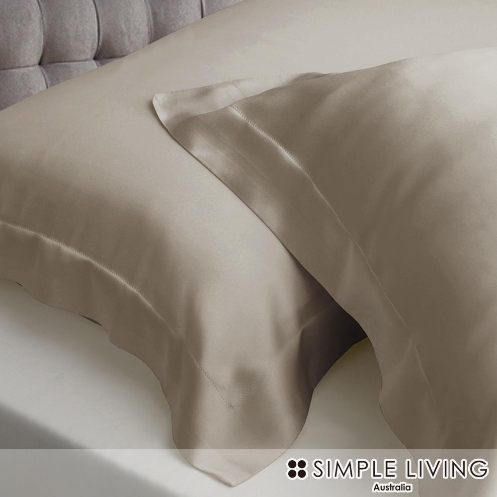 澳洲Simple Living 特大600織台灣製天絲床包枕套組(尊爵金)