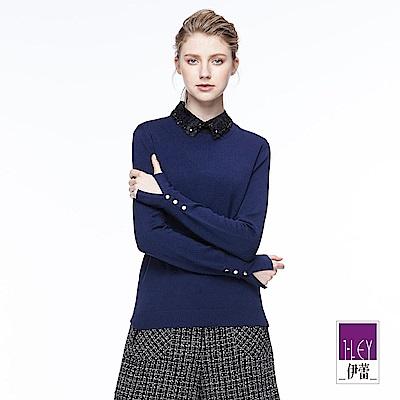 ILEY伊蕾 簡約百搭圓領針織上衣(黑/灰/藍/綠/紅/桃)
