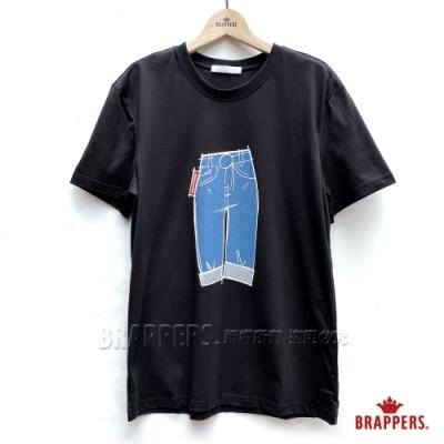BRAPPERS 男款 牛仔褲印花基本T-黑
