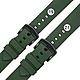 Watchband / 19.21 mm / 各品牌通用 快拆錶耳 輕盈舒適 矽膠錶帶 鍍黑不鏽鋼扣頭-綠色 product thumbnail 1