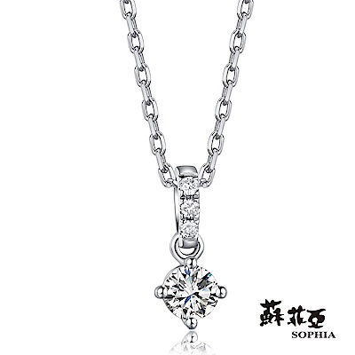 蘇菲亞SOPHIA 鑽石項鍊-GIA紫薇0.30克拉ESI2鑽鍊