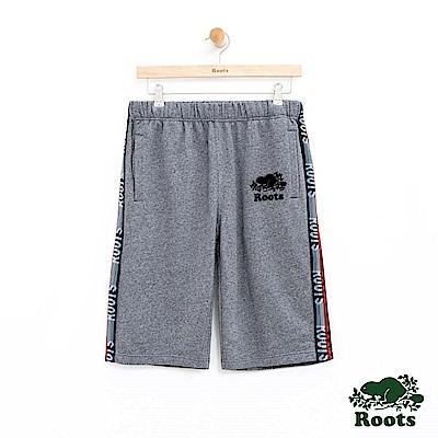 男裝Roots 法蘭克棉質短褲-灰色