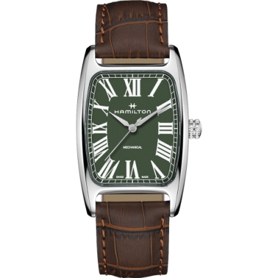 Hamilton 漢米爾頓 美國經典 柏登手上鍊機械錶-綠