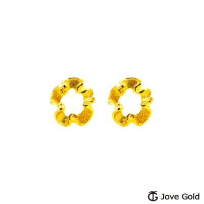 Jove Gold 漾金飾 花的姿態黃金耳環