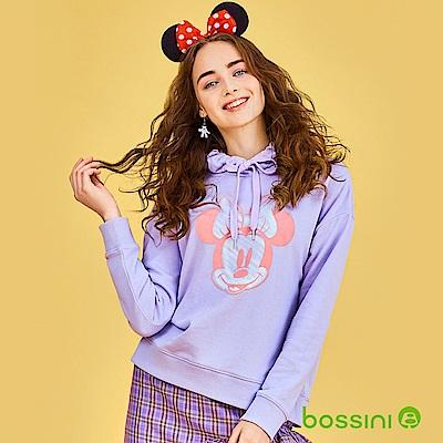 bossini女裝-米奇系列厚棉上衣02丁香紫