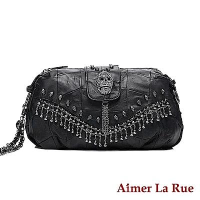 Aimer La Rue 側背包 羊皮龐克鏈銀系列(黑色)