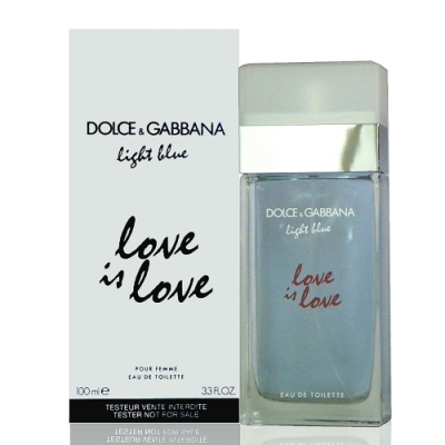 Dolce & Gabbana Love Is Love 淺藍示愛宣言女性淡香水 100ml Tester 包裝