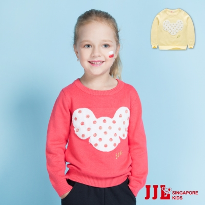 JJLKIDS 考拉點點棉質保暖針織長袖上衣(2色)
