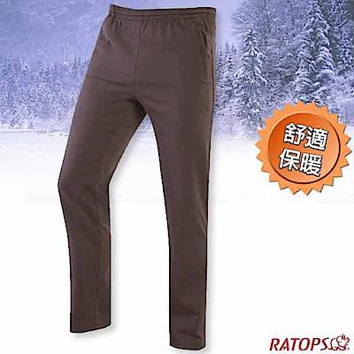 瑞多仕-RATOPS 中性款 刷毛保暖長褲(素色拉鍊)_DB6021 鐵灰褐色