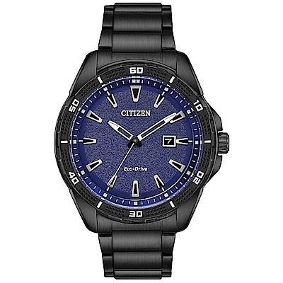 CITIZEN星辰 光動能潮流休閒手錶(AW1585-55L)-藍x黑/45mm