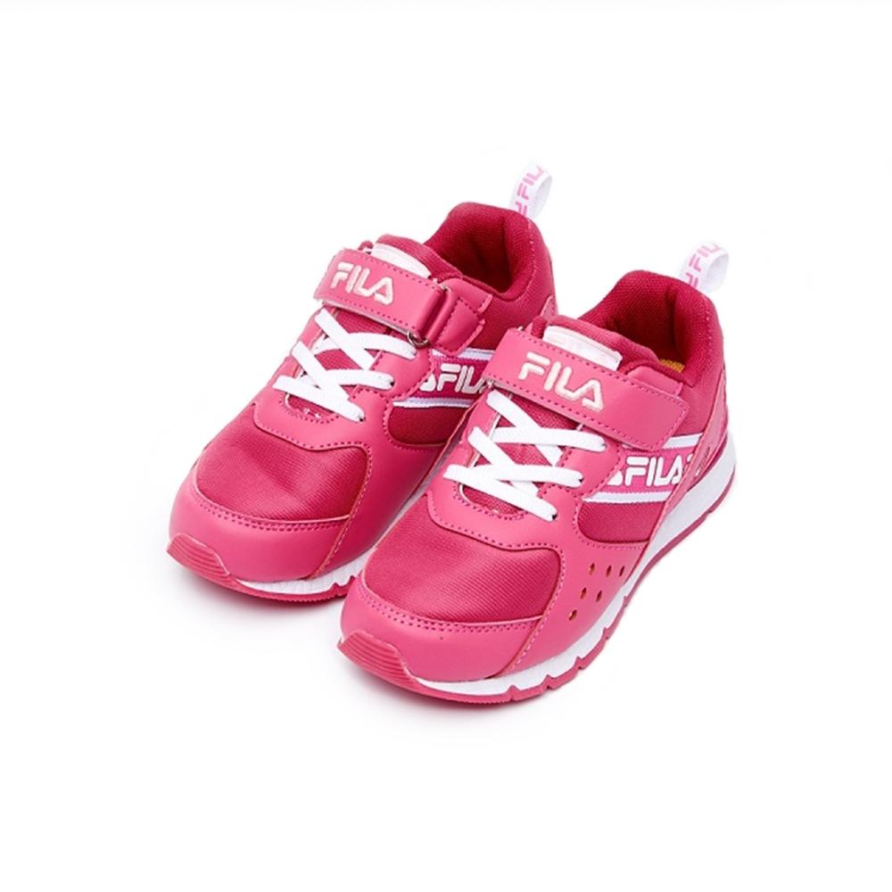 [專案五折價]FILA KIDS 大童MD輕量慢跑鞋-桃紅(19cm~24cm)
