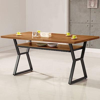 Homelike 德爾工業風5尺餐桌-150x88x82cm