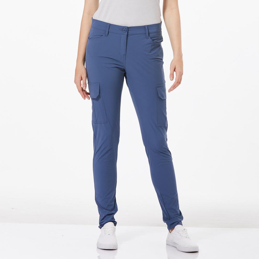 【HAKERS 哈克士】女 快乾彈性合身褲-復古藍