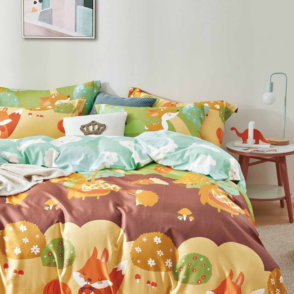 (買一送一)夢之語 3M天絲鋪棉床罩組(多款)-單/雙/大均價 (快樂森林)