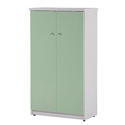 文創集 蘿倫環保2.2尺塑鋼二門鞋櫃(10色)-65x36.5x117cm-免組