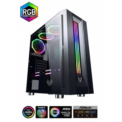 FSP 全漢 CMT321 炫俠客 ARGB 無打孔玻璃透側 電腦機殼 電腦主機