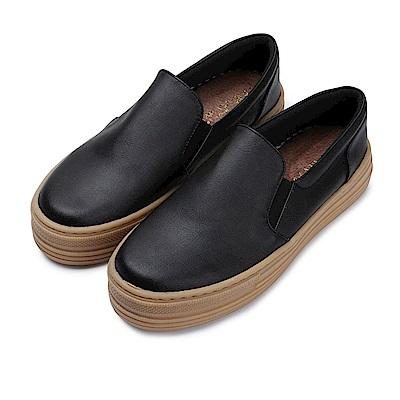BuyGlasses 黑白郎君復古再現懶人鞋-黑