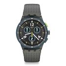 Swatch Bau 包浩斯系列手錶 SPORTIRE 運動灰時尚 -42mm