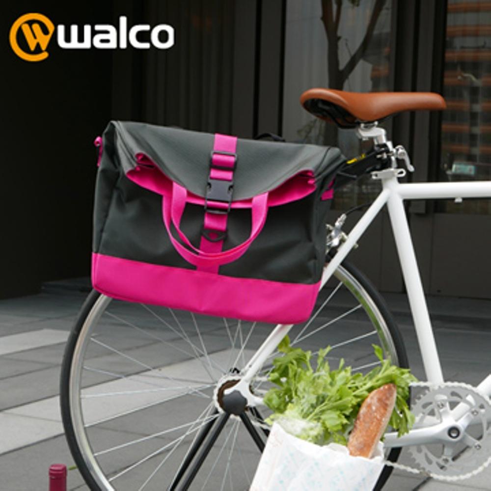 Walco 單車購物側邊馬鞍包-粉紅款
