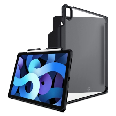 ITSKINS iPad Air 2020 10.9吋 Hybrid Solid Folio-防摔保護套(含Apple pencil槽: 黑)