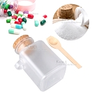kiret 粉類膠囊專用 分裝瓶(100ml)-超值2入贈原木湯匙