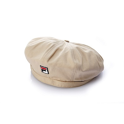 FILA時尚貝雷帽-卡其 HTS-5103-KK