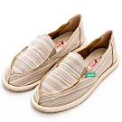 River&Moon休閒鞋-繽紛條紋懶人鞋-米系