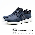 WALKING ZONE 皮革直套運動休閒鞋 男鞋 - 藍(另有黑)