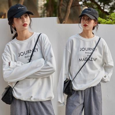 【韓國K.W.】(預購)獨賣俐落美感字母上衣-3色