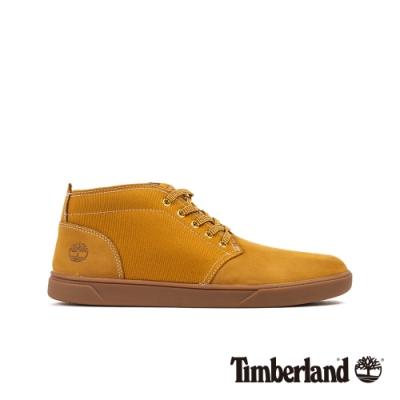 Timberland 男款小麥色皮革休閒鞋|A1115