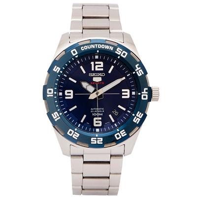 SEIKO  SPORTS系列五號機芯機械手錶(SRPB85K1)-藍紫面/44mm