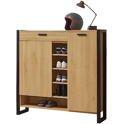 文創集 杜特時尚4尺二門鞋櫃/玄關櫃-120x33x120cm免組