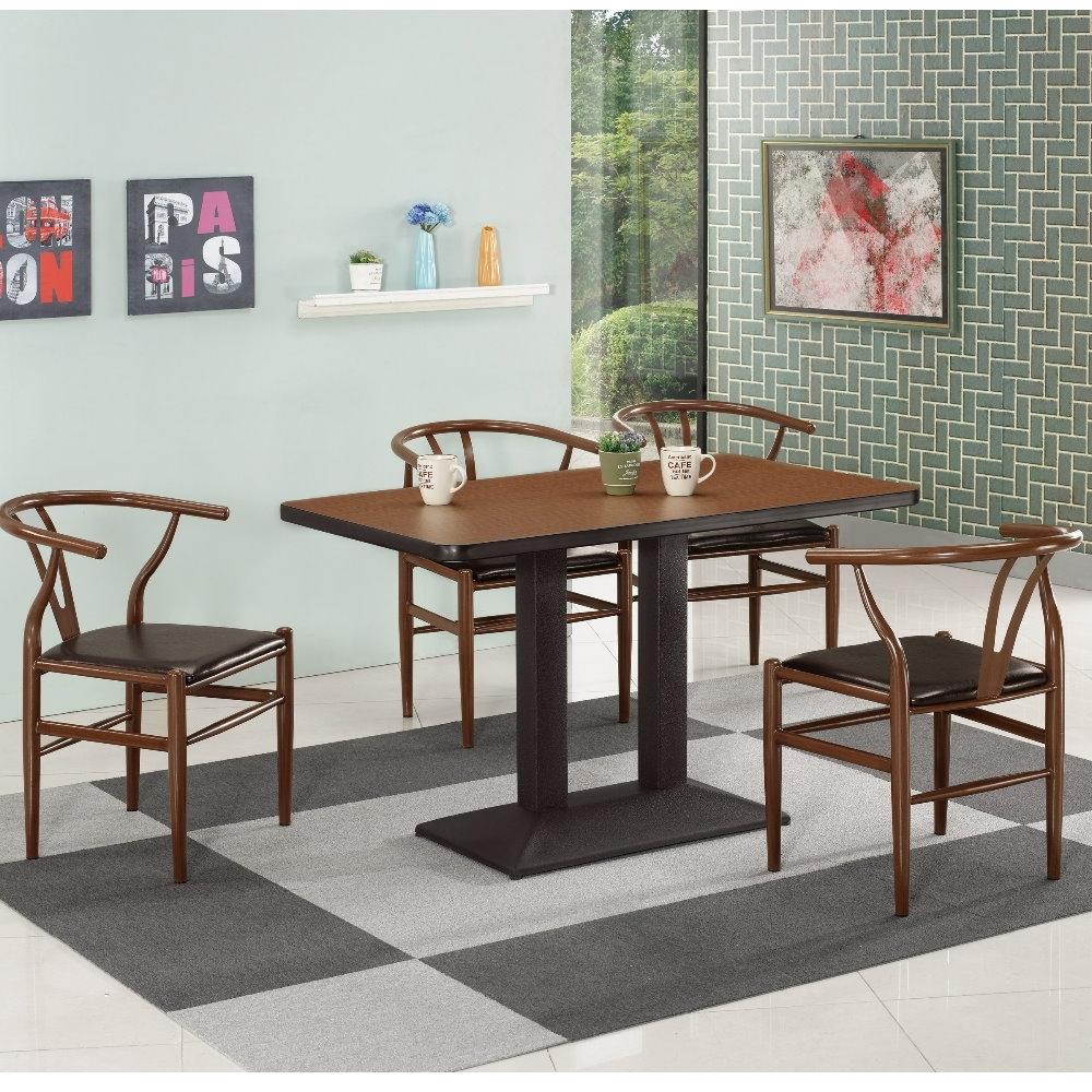 MUNA 曼特爾4尺商業桌(1桌4椅)戴爾皮餐椅 120X70X75cm