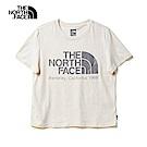 The North Face北面女款米色舒適寬版短袖T恤|46GF0ZX