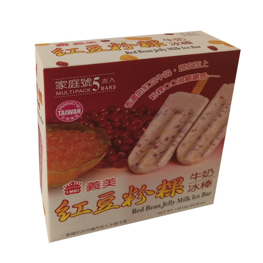 任- 義美 紅豆粉粿牛奶冰棒(5入/盒)
