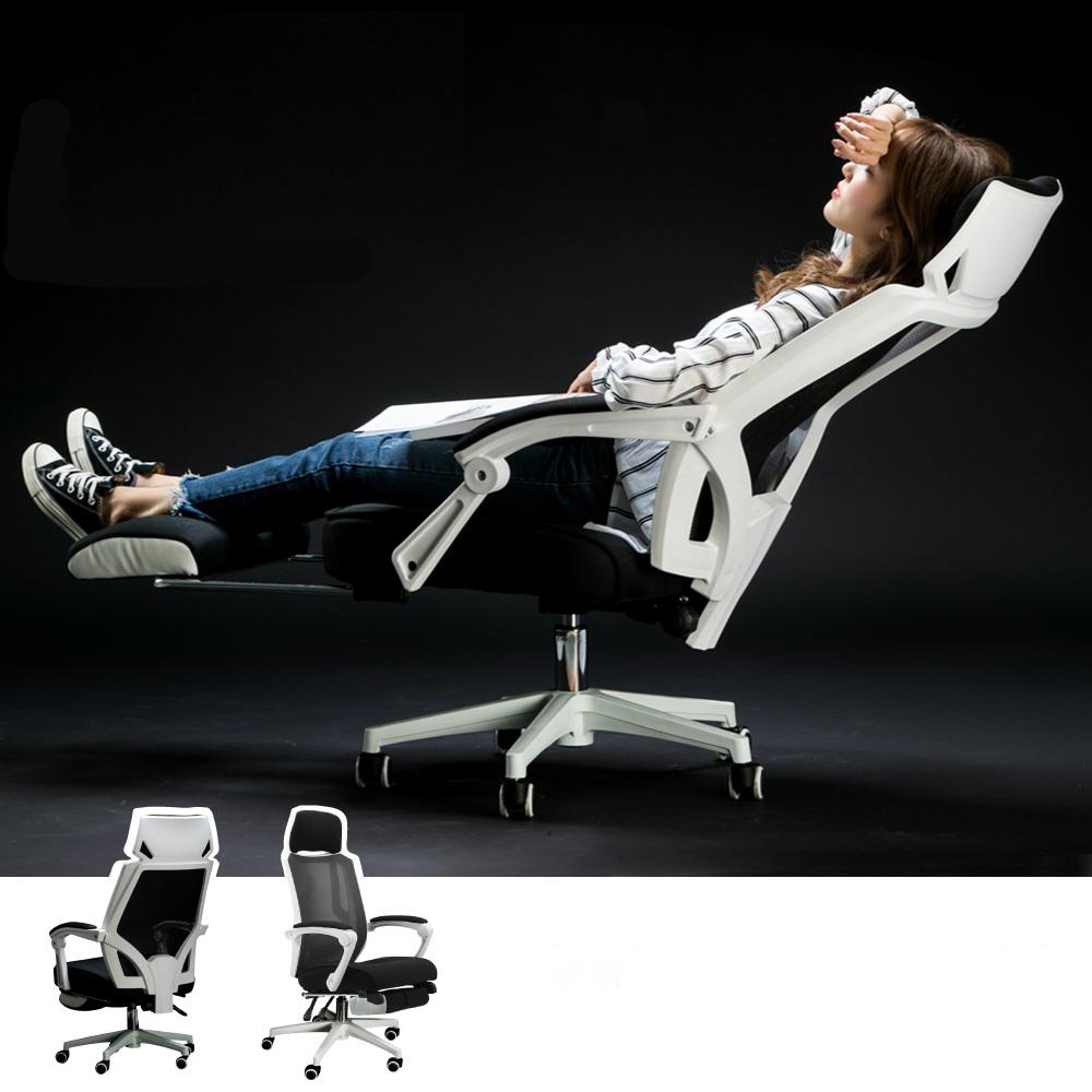 【時時樂限定】羅德加寬頭枕型高背人體工學商務辦公椅(加厚頭枕 / 置腳台)