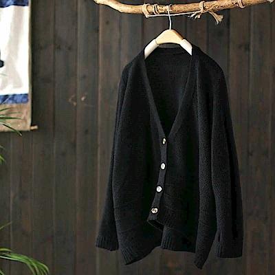 菠蘿紋慵懶風不規則針織外套毛衣開衫外搭-設計所在