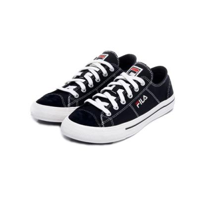 FILA FESTIVO 91 中性帆布鞋-黑 4-C617U-013