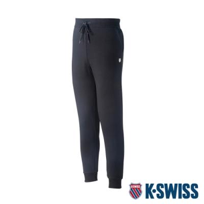 K-SWISS Shield Logo Sweat pant運動長褲-男-黑